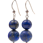 Sterling Silver | Lapis Lazuli Drop Earrings
