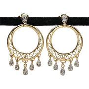 14K YG | 0.36ct | Diamond Dangle Earrings