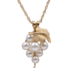14K Gold | Cultured Pearl Pendant with 18-Inch Chain