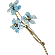 Vintage | Lovely | Blue Floral Brooch