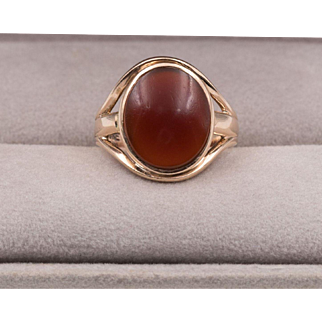14K Rose Gold | Carnelian Ring | Size 6-1/4