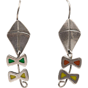 Sterling Silver | Enamel Kite Earrings