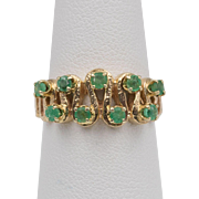 14K Yellow Gold | Emerald | Band/Ring  | Size 6