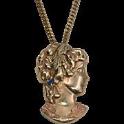 Vintage | Figural Pendant | Natural Blue Sapphire