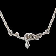 Sterling Silver |  Snake Necklace