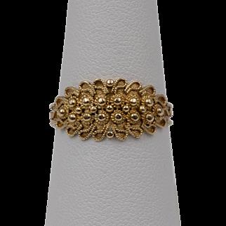 18K YG | Vadilonga  | Etruscan Style Ring | Size 8