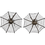 Victorian Chinese Spiderwebs | Set of Two Pins/Picks