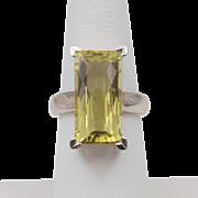 Sterling Silver   Lemon Citrine Gemstone Ring