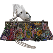 Vintage | Silk & Beaded/Stitched Clutch