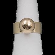 14K YG | Modernist Orb Ring | Size 6