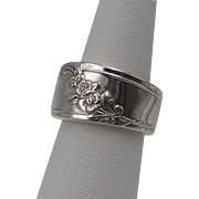 Sterling Silver   Floral Spoon-Style Ring