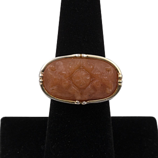 Vintage | Sterling Silver | Chinese Jade Ring