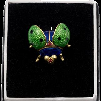 GUCCI 18K YG  | Vintage Lady Bug/Beetle Pin