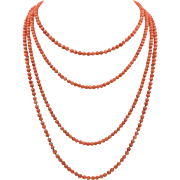 Pop of Color! Two Strands | Faux Coral Beads