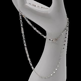 14K WG | Italian | Gucci-Style Chain | 21-3/4 Inches