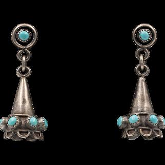 Vintage Sterling Silver | Turquoise Drop Earrings