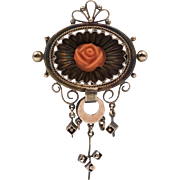 Mid-Victorian Antique | Watch Fob/Brooch | 8CT Gold