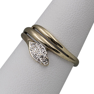 8CT YG | Diamond Snake Ring | Size 7-1/4