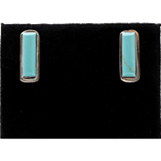 Beautiful | Natural Blue Turquoise Earrings | Sterling Silver