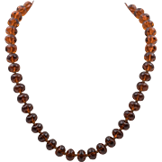 Beautiful Antique | Amber Colored Glass Beads