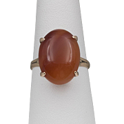 Turn of The Century | 14K Rose Gold | Banded Carnelian Ring