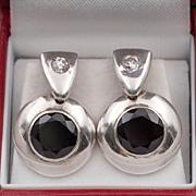 Vintage | Garnet Earrings | Sterling Silver