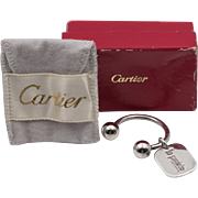 Vintage | Cartier Sterling Silver | Key Ring with Hang Tag