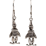 Articulated | Sterling Silver | Clown Earrings