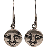 Sterling Silver | Man in The Moon Earrings