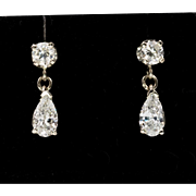 14K WG | 1CTW | Diamond Drop Earrings