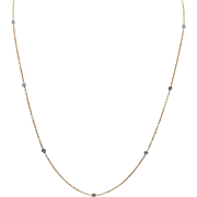 14K YG | Diamonds By The Yard Station Necklace | 20-Inches | 0.30 CTW