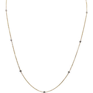 14K YG | Diamonds By The Yard Necklace | 20-Inches | 0.30 CTW