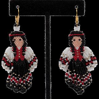 Vintage | Handmade | Beaded Squaw Earrings