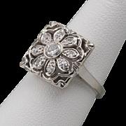 Art Deco | 14K WG | Diamond Ring | 41CTW