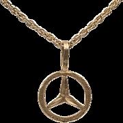 14K YG | Mercedes Charm/Pendant