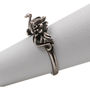 Sterling Silver | Swan Ring with Floral Motif Ring