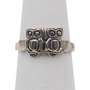 Vintage | Sterling Silver | Hoot-Owl Ring