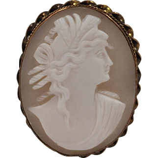 Antique | Ceres Goddess of The Harvest | Shell Cameo