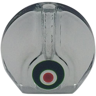 Walther Glass | Wheel Shaped | Bullseye Stem Vase | Germany