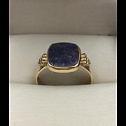 14K YG | Lapis Lazuli Ring | Size 7-1/4