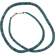 20-1/2 Inch | Natural Hand-Cut Turquoise Necklace