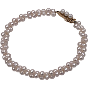14K YG   Cultured Pearl Bracelet   7-1/2 Inches