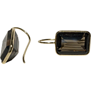 14K YG   Smoky Quartz Earrings
