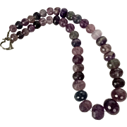 Beautiful! | LARGE 20MM | Graduated Faceted Fluorite Bead Necklace