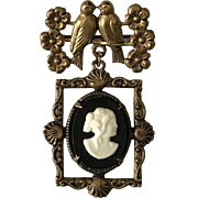Victorian | Love Birds and Cameo Pin