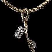 18K YG/WG | High Heel Diamond | Charm/Pendant