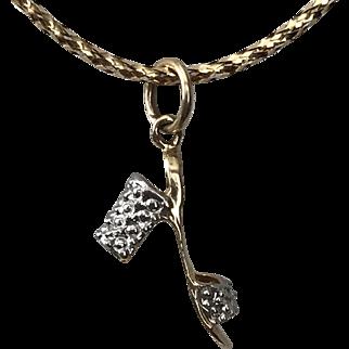 18K YG/WG   High Heel Diamond   Charm/Pendant