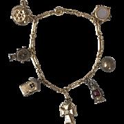 1920 | 10K YG | Eclectic Charm Bracelet