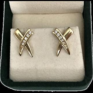 14K 585 YG   Diamond Earrings 0.42 CTW