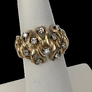 14K YG   Diamond Band/Ring 0.50CTW Size 6.5
